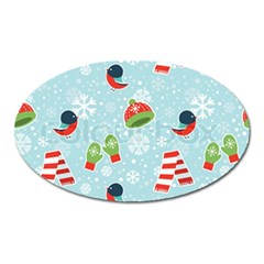 Winter Fun Pattern Oval Magnet by allthingseveryone