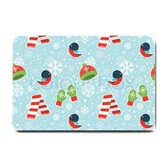 Winter Fun Pattern Small Doormat  by allthingseveryone
