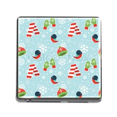 Winter Fun Pattern Memory Card Reader (square) by allthingseveryone