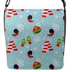 Winter Fun Pattern Flap Messenger Bag (s) by allthingseveryone