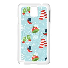 Winter Fun Pattern Samsung Galaxy Note 3 N9005 Case (white) by allthingseveryone