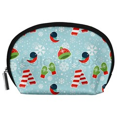 Winter Fun Pattern Accessory Pouches (large)  by allthingseveryone