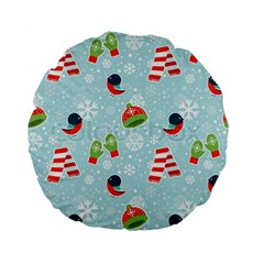 Winter Fun Pattern Standard 15  Premium Flano Round Cushions by allthingseveryone