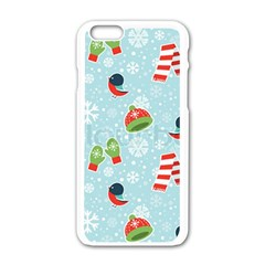 Winter Fun Pattern Apple Iphone 6/6s White Enamel Case by allthingseveryone
