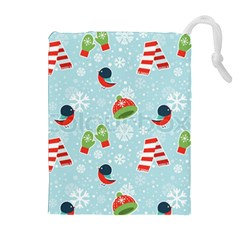 Winter Fun Pattern Drawstring Pouches (extra Large) by allthingseveryone