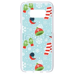 Winter Fun Pattern Samsung Galaxy S8 White Seamless Case by allthingseveryone