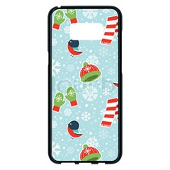 Winter Fun Pattern Samsung Galaxy S8 Plus Black Seamless Case by allthingseveryone