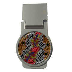 Aboriginal Art   Campsite Money Clips (round)