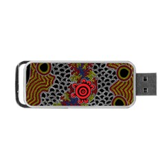 Aboriginal Art - Campsite Portable Usb Flash (two Sides)
