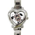 Aboriginal Art - Untitled Heart Italian Charm Watch Front