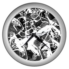 Broken Glass  Wall Clocks (silver)  by berwies