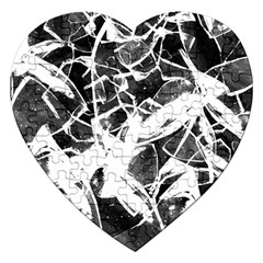 Broken Glass  Jigsaw Puzzle (heart)
