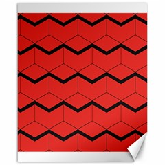 Red Box Pattern Canvas 16  X 20