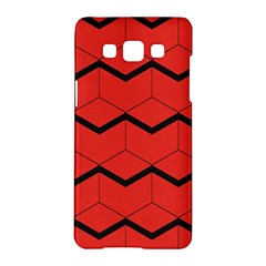 Red Box Pattern Samsung Galaxy A5 Hardshell Case  by berwies
