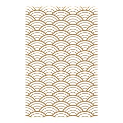 Art Deco,japanese Fan Pattern, Gold,white,vintage,chic,elegant,beautiful,shell Pattern, Modern,trendy Shower Curtain 48  X 72  (small)  by 8fugoso