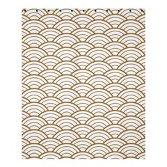 Art Deco,japanese Fan Pattern, Gold,white,vintage,chic,elegant,beautiful,shell Pattern, Modern,trendy Shower Curtain 60  X 72  (medium)  by 8fugoso