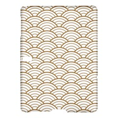 Art Deco,japanese Fan Pattern, Gold,white,vintage,chic,elegant,beautiful,shell Pattern, Modern,trendy Samsung Galaxy Tab S (10 5 ) Hardshell Case  by 8fugoso