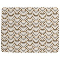 Art Deco,japanese Fan Pattern, Gold,white,vintage,chic,elegant,beautiful,shell Pattern, Modern,trendy Jigsaw Puzzle Photo Stand (rectangular) by 8fugoso