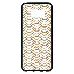 Art Deco,japanese Fan Pattern, Gold,white,vintage,chic,elegant,beautiful,shell Pattern, Modern,trendy Samsung Galaxy S8 Plus Black Seamless Case by 8fugoso