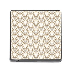 Art Deco,japanese Fan Pattern, Gold,white,vintage,chic,elegant,beautiful,shell Pattern, Modern,trendy Memory Card Reader (square) by 8fugoso