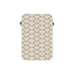 art deco,japanese fan pattern, gold,white,vintage,chic,elegant,beautiful,shell pattern, modern,trendy Apple iPad Mini Protective Soft Cases Front