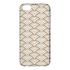 Art Deco,japanese Fan Pattern, Gold,white,vintage,chic,elegant,beautiful,shell Pattern, Modern,trendy Apple Iphone 5c Hardshell Case by 8fugoso