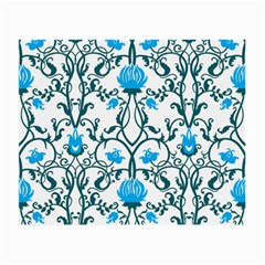 Art Nouveau, Art Deco, Floral,vintage,blue,green,white,beautiful,elegant,chic,modern,trendy,belle Époque Small Glasses Cloth (2 Side) by 8fugoso