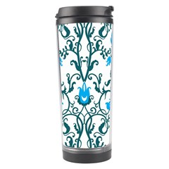 Art Nouveau, Art Deco, Floral,vintage,blue,green,white,beautiful,elegant,chic,modern,trendy,belle Époque Travel Tumbler by 8fugoso