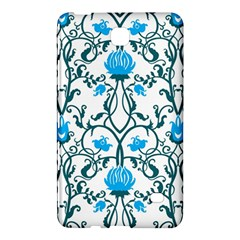 Art Nouveau, Art Deco, Floral,vintage,blue,green,white,beautiful,elegant,chic,modern,trendy,belle Époque Samsung Galaxy Tab 4 (7 ) Hardshell Case  by 8fugoso