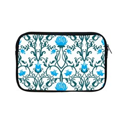 Art Nouveau, Art Deco, Floral,vintage,blue,green,white,beautiful,elegant,chic,modern,trendy,belle Époque Apple Macbook Pro 13  Zipper Case by 8fugoso
