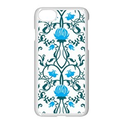 Art Nouveau, Art Deco, Floral,vintage,blue,green,white,beautiful,elegant,chic,modern,trendy,belle Époque Apple Iphone 8 Seamless Case (white)