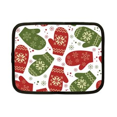 Winter Snow Mittens Netbook Case (small)  by allthingseveryone