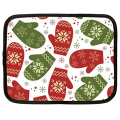 Winter Snow Mittens Netbook Case (xxl)  by allthingseveryone