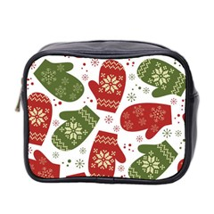 Winter Snow Mittens Mini Toiletries Bag 2 Side by allthingseveryone