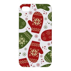 Winter Snow Mittens Apple Iphone 4/4s Hardshell Case by allthingseveryone