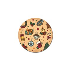 Cute Vintage Christmas Pattern Golf Ball Marker (4 Pack) by allthingseveryone