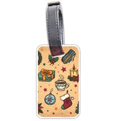 Cute Vintage Christmas Pattern Luggage Tags (one Side)  by allthingseveryone