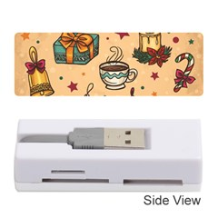 Cute Vintage Christmas Pattern Memory Card Reader (stick)  by allthingseveryone