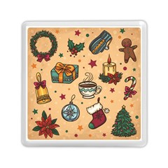 Cute Vintage Christmas Pattern Memory Card Reader (square)  by allthingseveryone