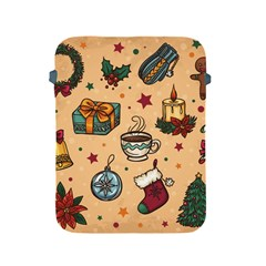 Cute Vintage Christmas Pattern Apple Ipad 2/3/4 Protective Soft Cases by allthingseveryone