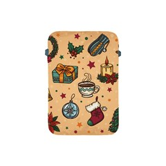 Cute Vintage Christmas Pattern Apple Ipad Mini Protective Soft Cases by allthingseveryone