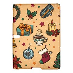 Cute Vintage Christmas Pattern Samsung Galaxy Tab S (10 5 ) Hardshell Case  by allthingseveryone