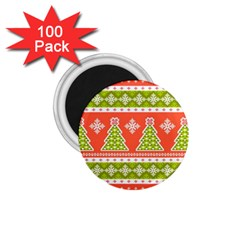 Christmas Tree Ugly Sweater Pattern 1 75  Magnets (100 Pack)  by allthingseveryone