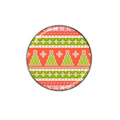 Christmas Tree Ugly Sweater Pattern Hat Clip Ball Marker (4 Pack) by allthingseveryone