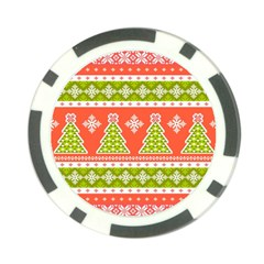Christmas Tree Ugly Sweater Pattern Poker Chip Card Guard by allthingseveryone