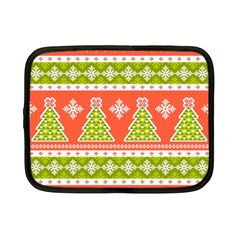 Christmas Tree Ugly Sweater Pattern Netbook Case (small)  by allthingseveryone