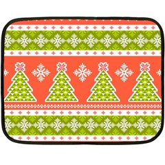 Christmas Tree Ugly Sweater Pattern Double Sided Fleece Blanket (mini)  by allthingseveryone