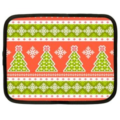 Christmas Tree Ugly Sweater Pattern Netbook Case (xxl)  by allthingseveryone