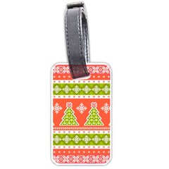 Christmas Tree Ugly Sweater Pattern Luggage Tags (one Side)  by allthingseveryone