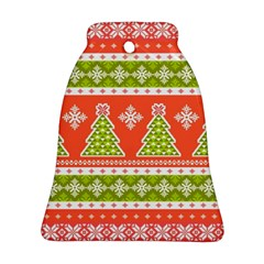 Christmas Tree Ugly Sweater Pattern Ornament (bell) by allthingseveryone